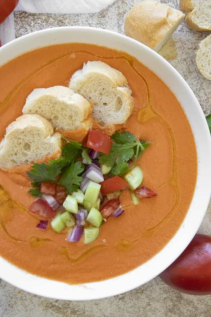 gazpacho in a bowl