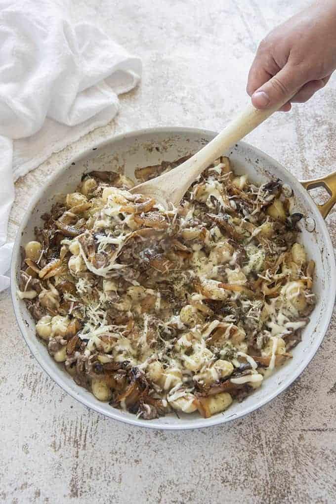 french onion beef gnocchi