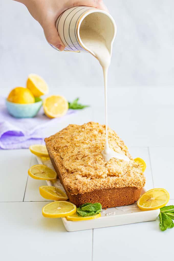 lemon loaf cake glaze