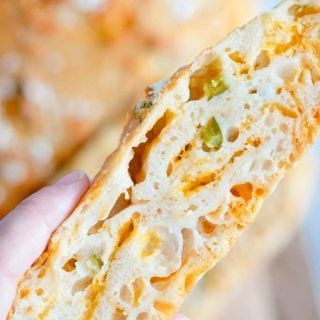 slice of jalapeno cheese bread