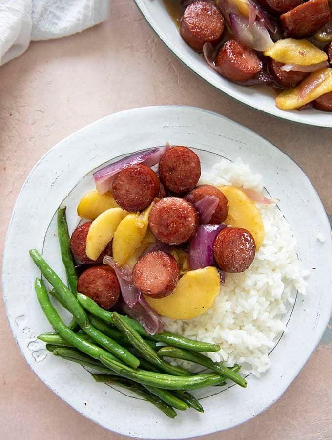 kielbasa on a plate