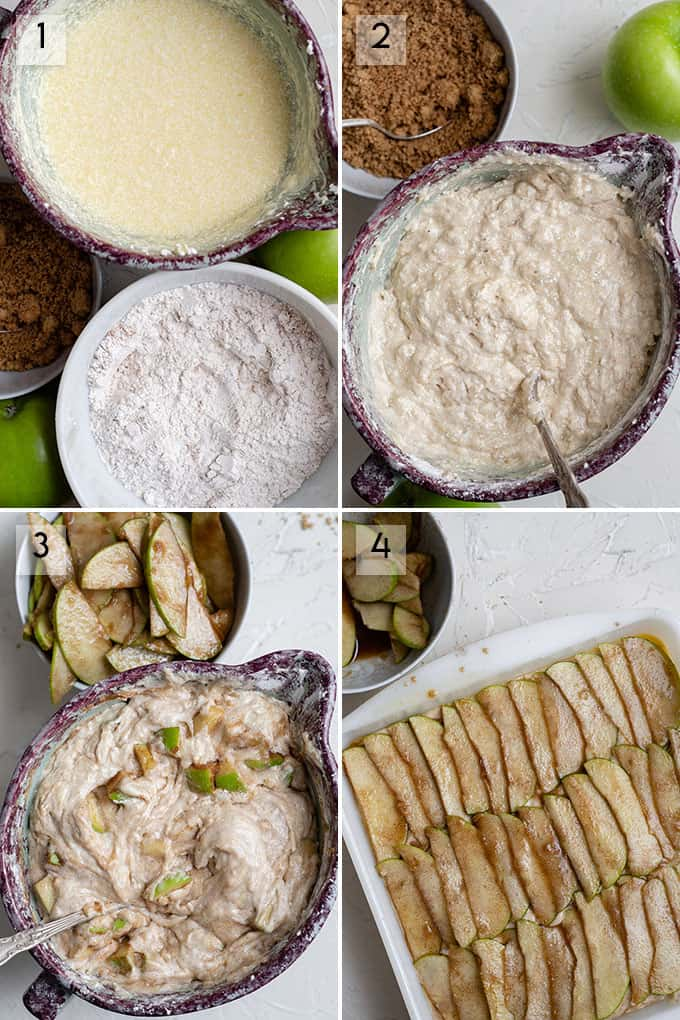 how to make apple cake photo collage
