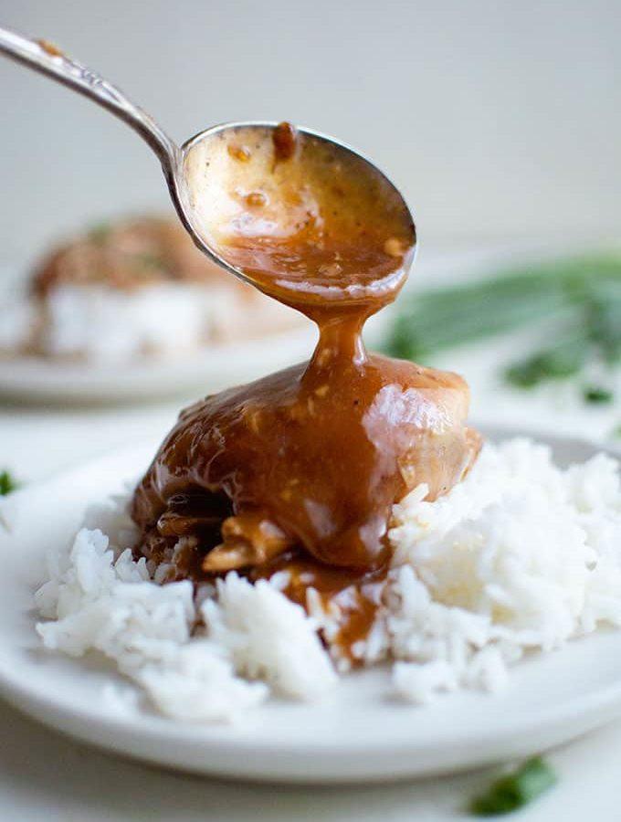 teriyaki chicken with sauce