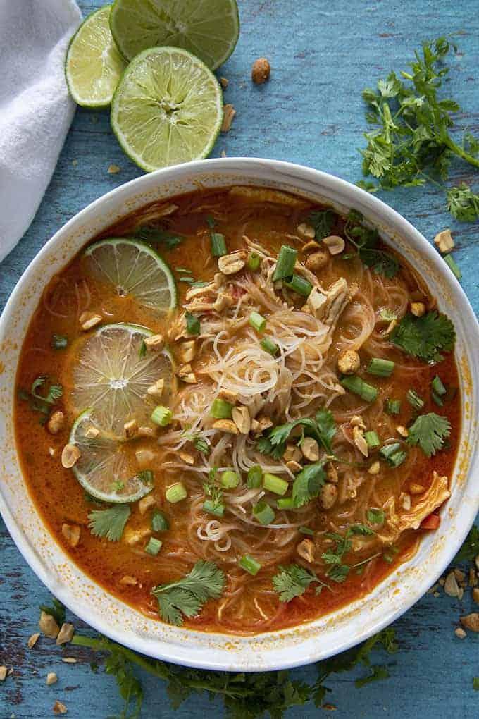 soupe de poulet thaï