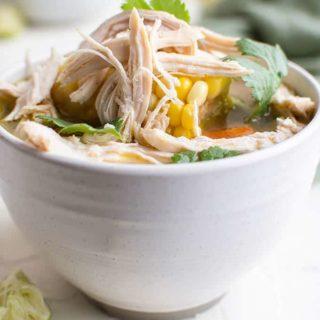 caldo de pollo in bowl