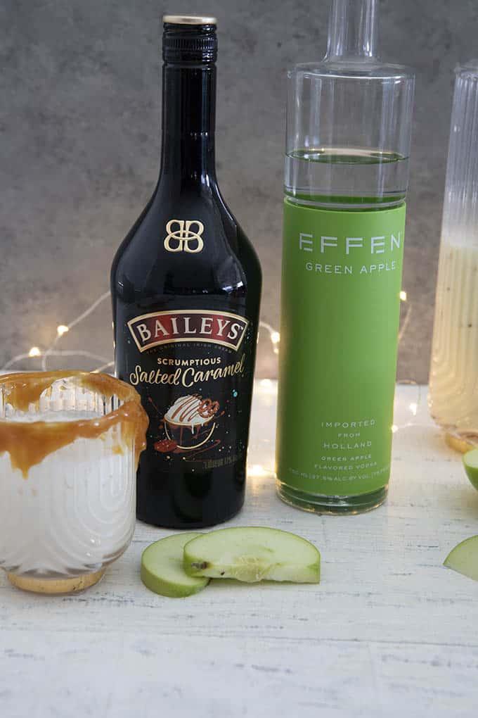 ingredients for caramel apple cocktails