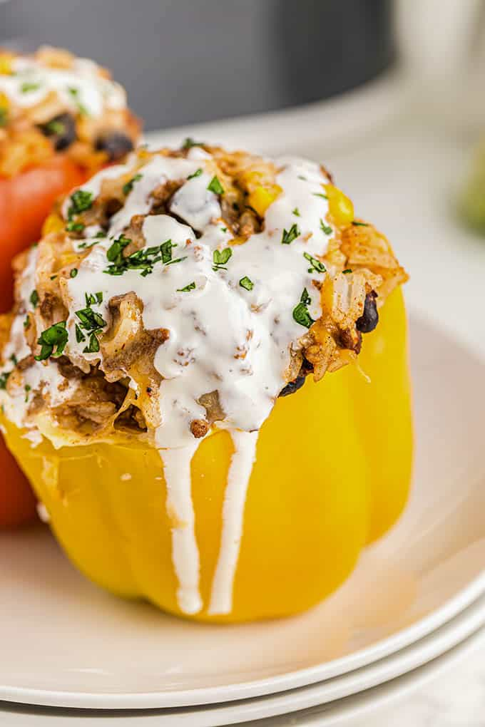 crockpot stuffed peppers