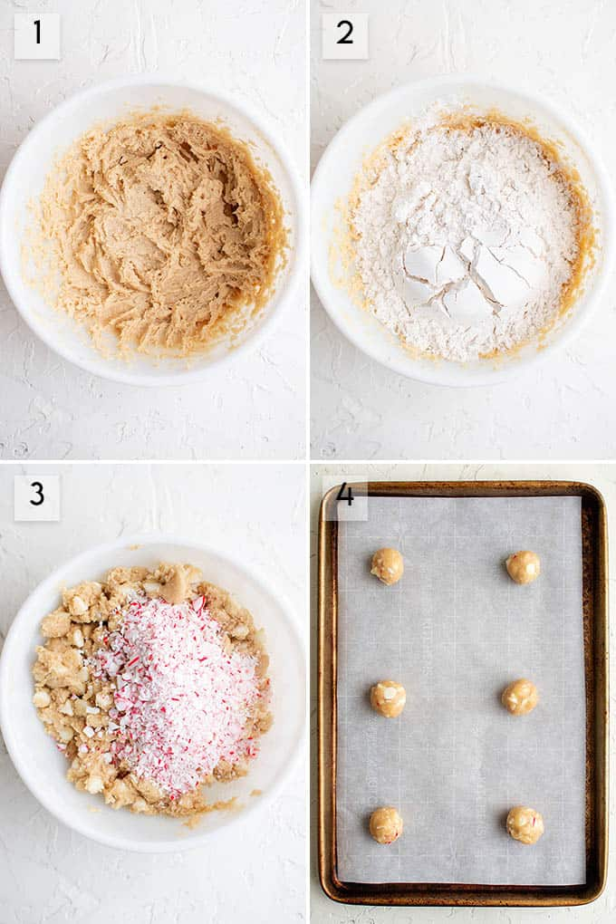 photo collage how to make peppermint cookies