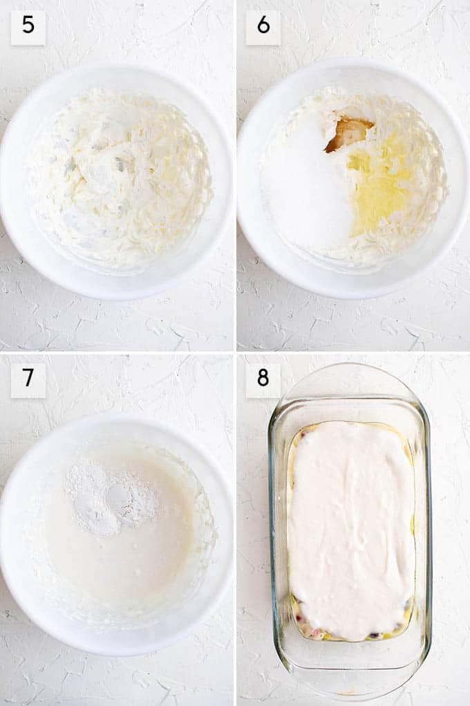 garniture de cheesecake pour pain