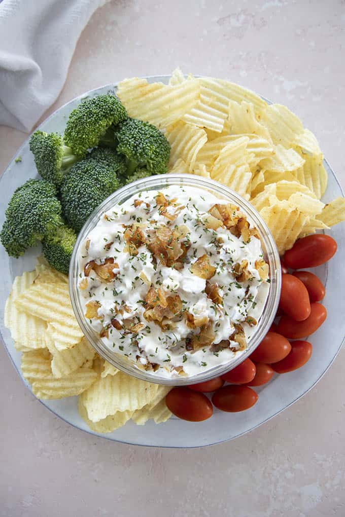 bowl of french onion dip
