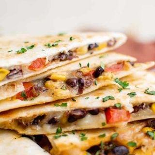 quesadillas aux haricots noirs