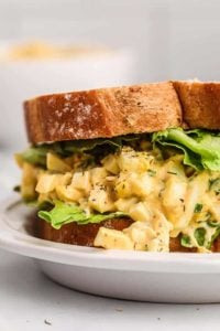 egg salad on sandwich