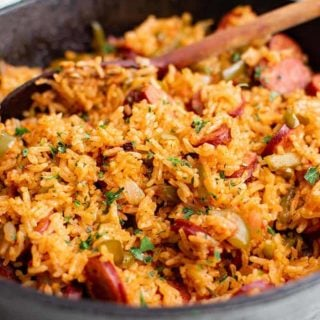 smoked sausage and rice