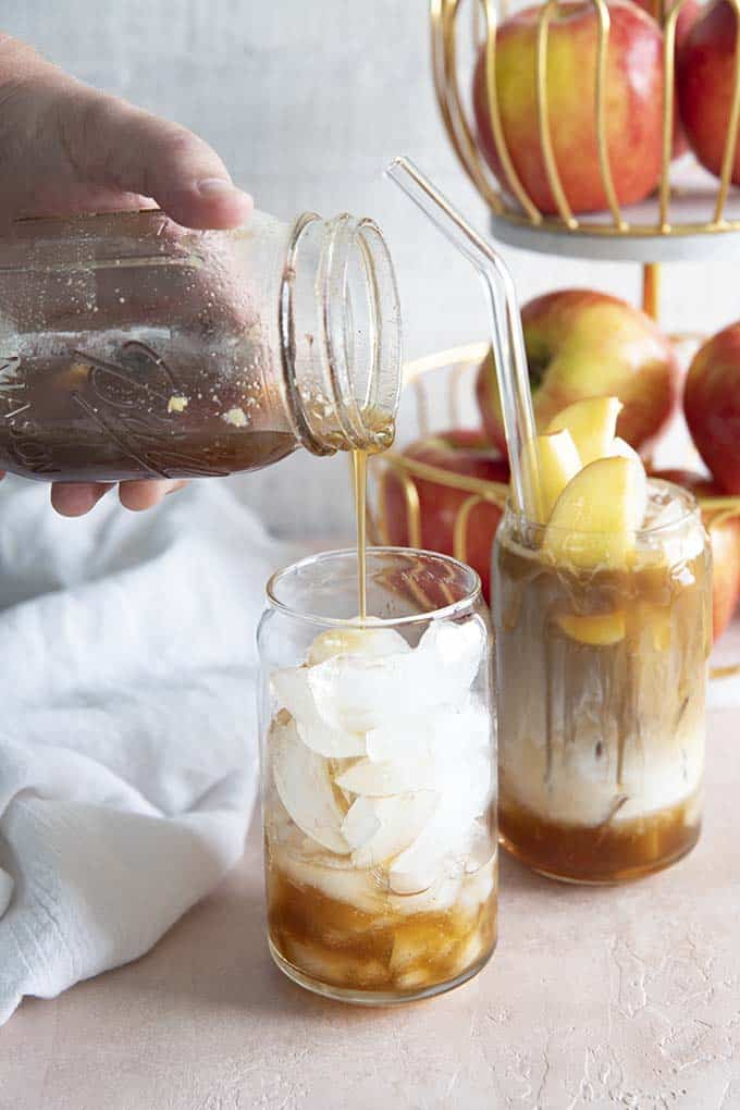 brown sugar apple syrup for iced coffee