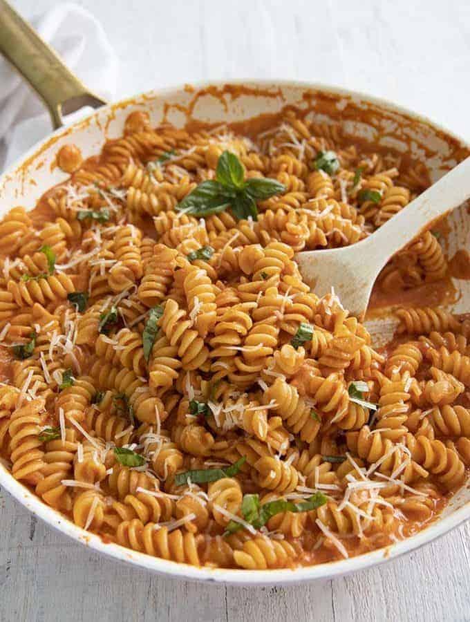 vodka saue on pasta
