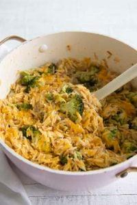 cheddar broccoli orzo