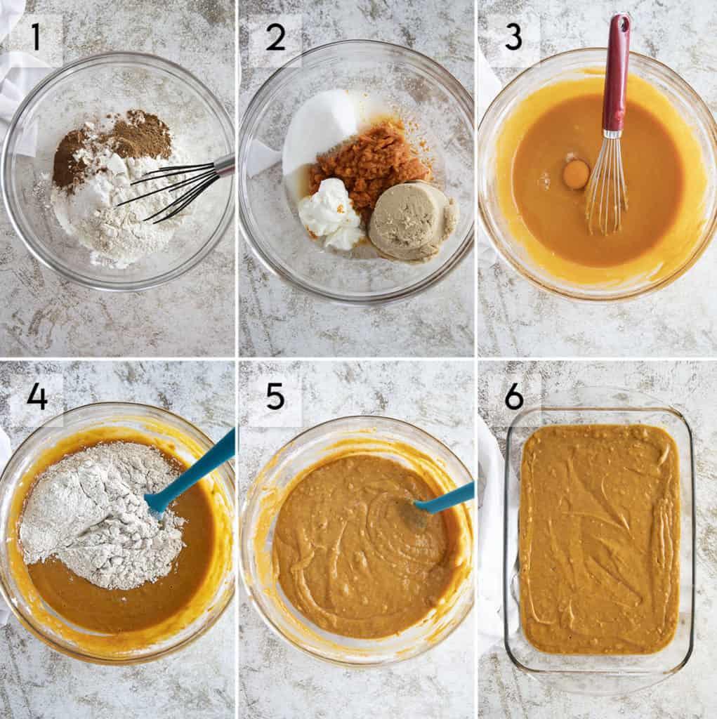 how to make pumpkin cake photo collage